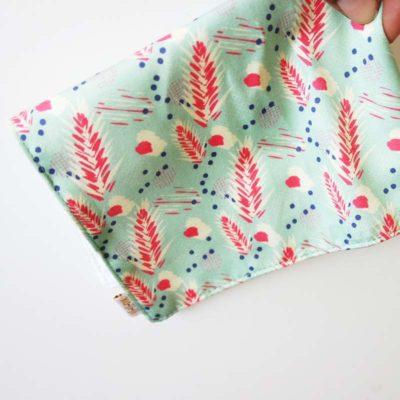 mouchoir tissu vert