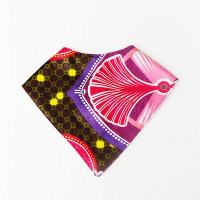 bavoir-bandana-wax-rose-kajiji