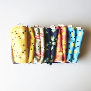 pack de 10 lingettes lavables bébé bio