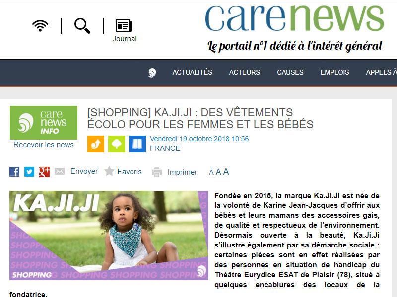 Ka.ji.ji dans la presse Carenews