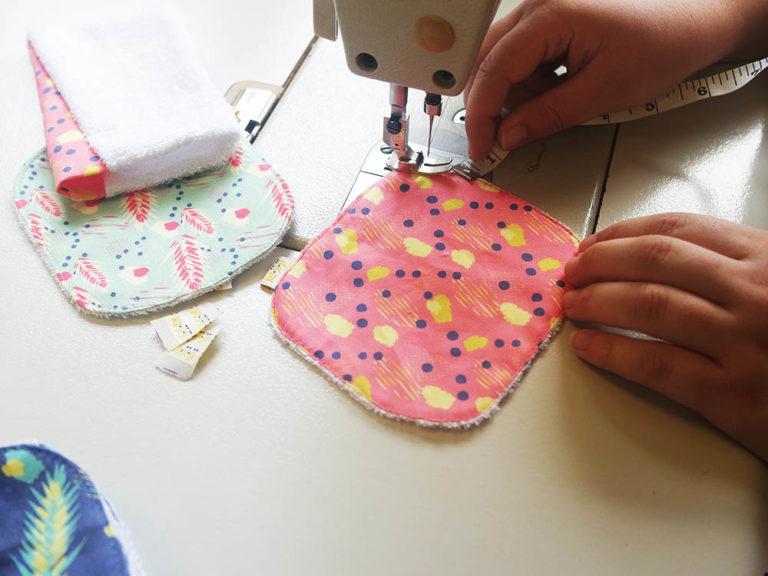 couture de lingettes lavables france en