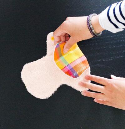 serviette lavable et réutilisable madras